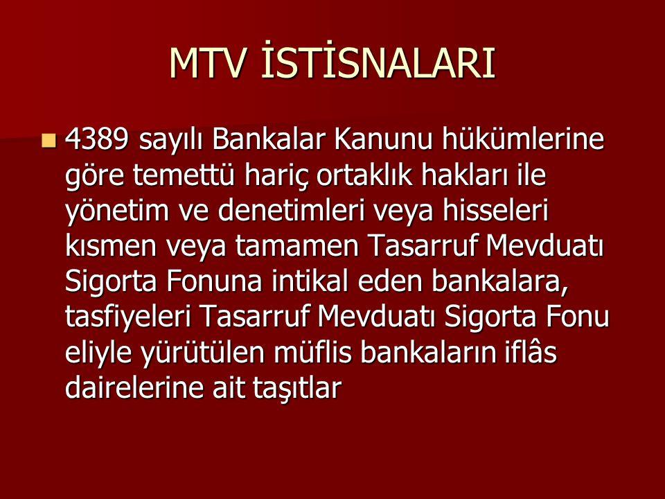 MTV İSTİSNALARI