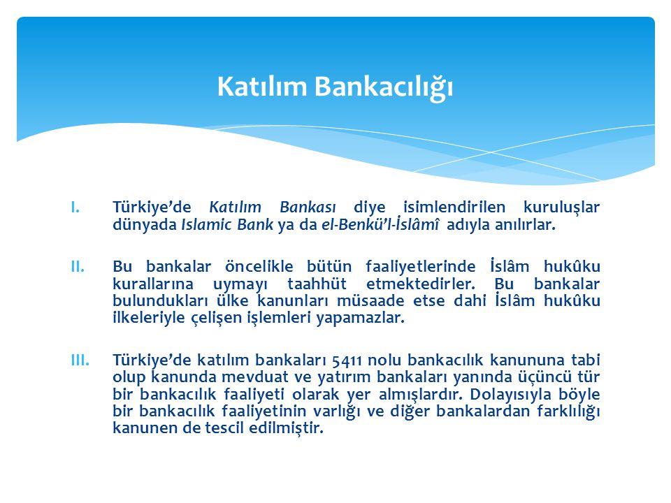 Katılım Bankacılığı Türkiye'de Katılım Bankası diye isimlendirilen kuruluşlar dünyada Islamic Bank ya da el-Benkü'l-İslâmî adıyla anılırlar.