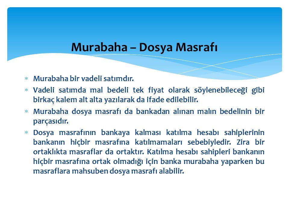 Murabaha – Dosya Masrafı