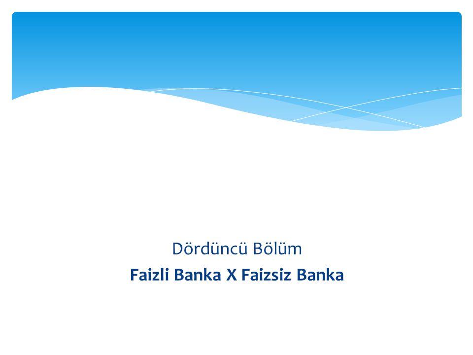 Faizli Banka X Faizsiz Banka