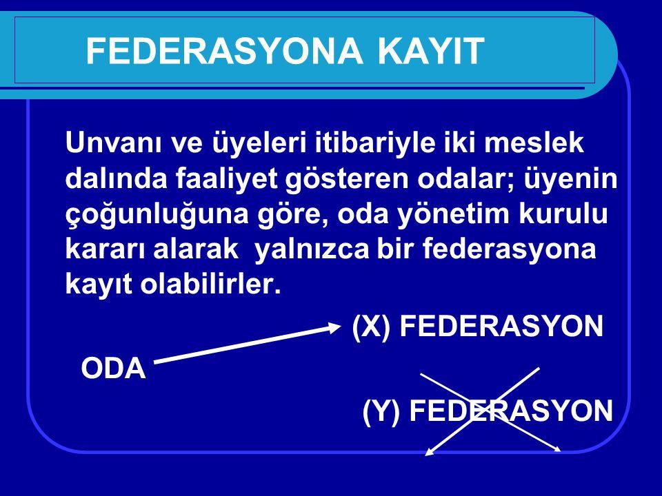 FEDERASYONA KAYIT