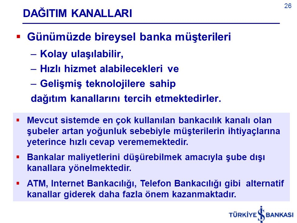 Günümüzde bireysel banka müşterileri
