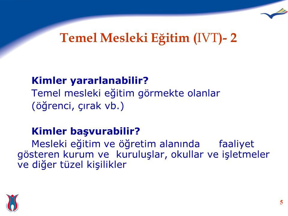 Temel Mesleki Eğitim (IVT)- 2