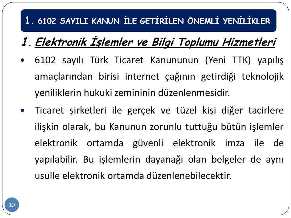 Elektronik İşlemler ve Bilgi Toplumu Hizmetleri