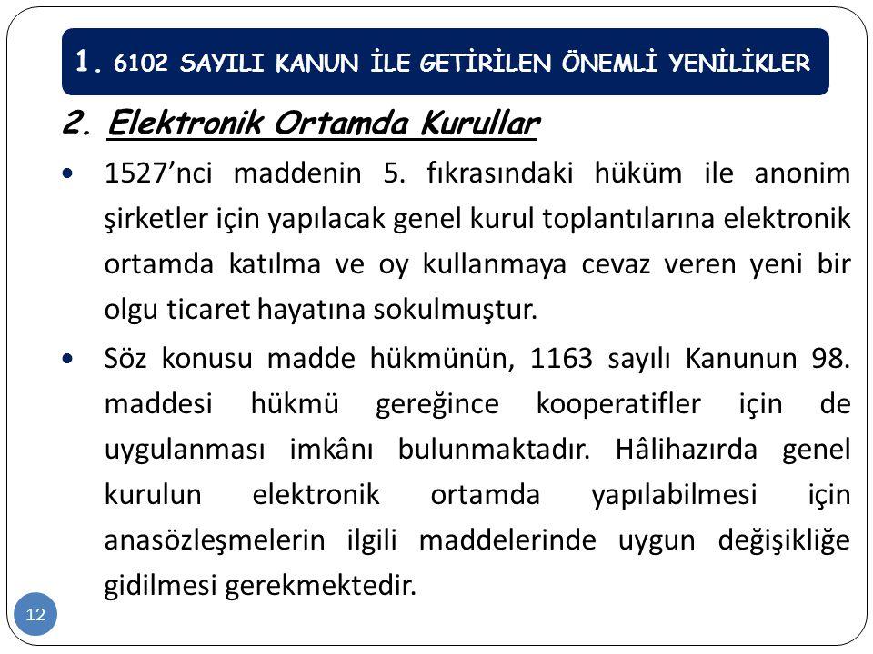 2. Elektronik Ortamda Kurullar