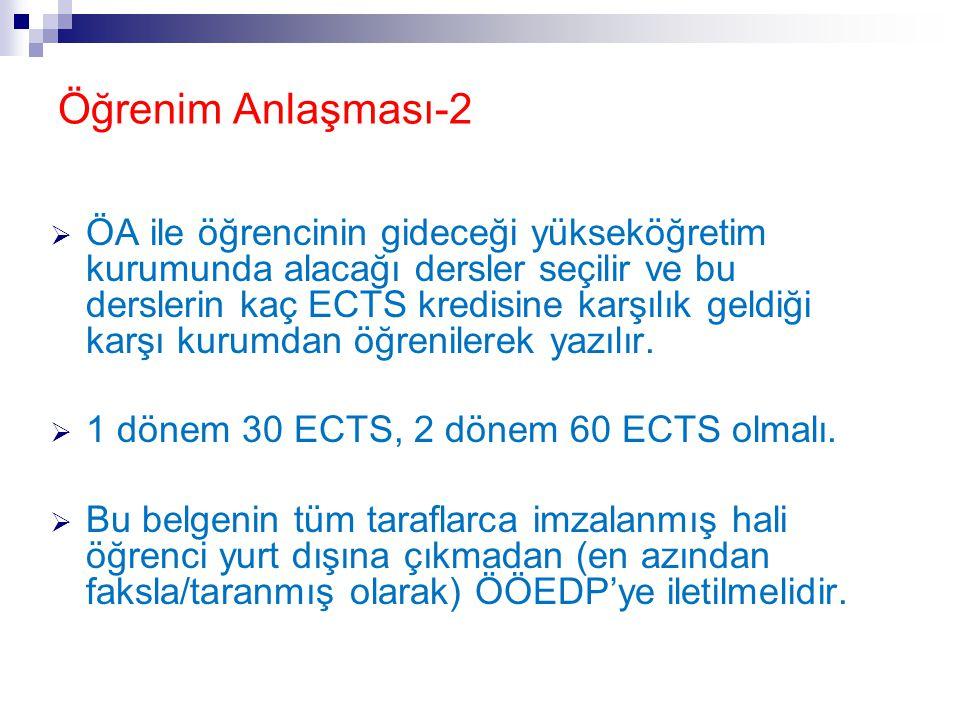 Öğrenim Anlaşması-2