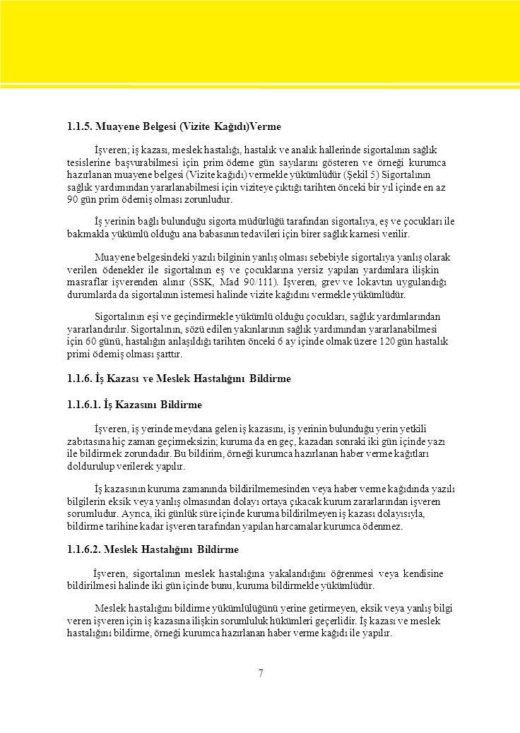 1.1.5. Muayene Belgesi (Vizite Kağıdı)Verme