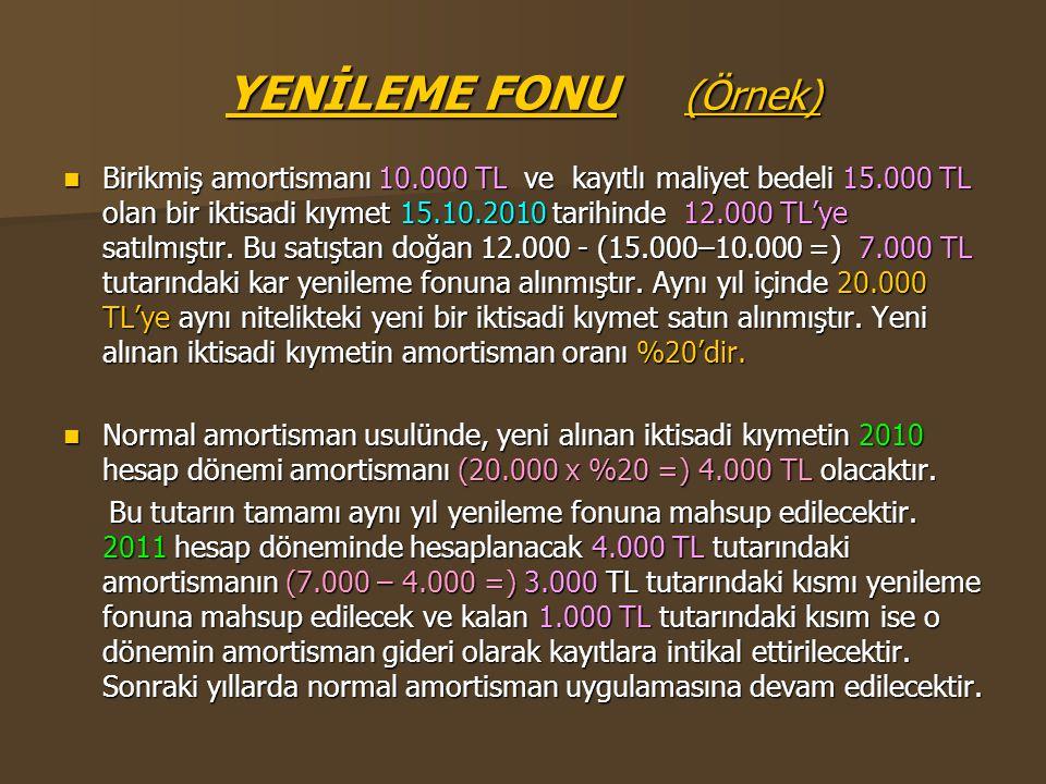 YENİLEME FONU (Örnek)