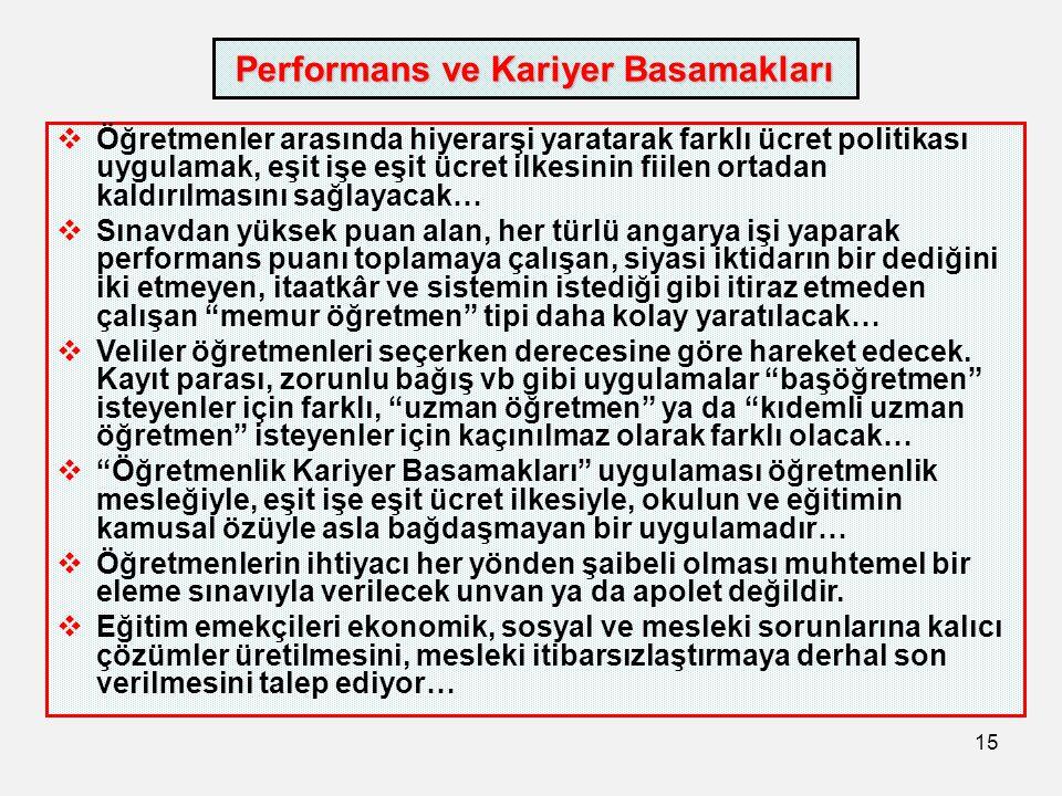 Performans ve Kariyer Basamakları