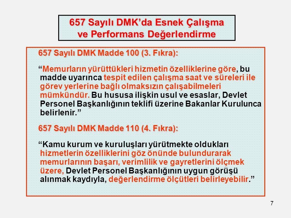 657 Sayılı DMK'da Esnek Çalışma ve Performans Değerlendirme