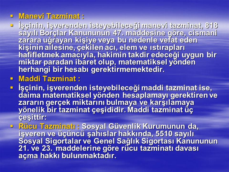 Manevi Tazminat :