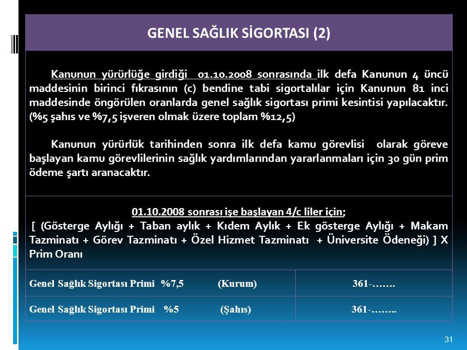 GENEL SAĞLIK SİGORTASI (2)