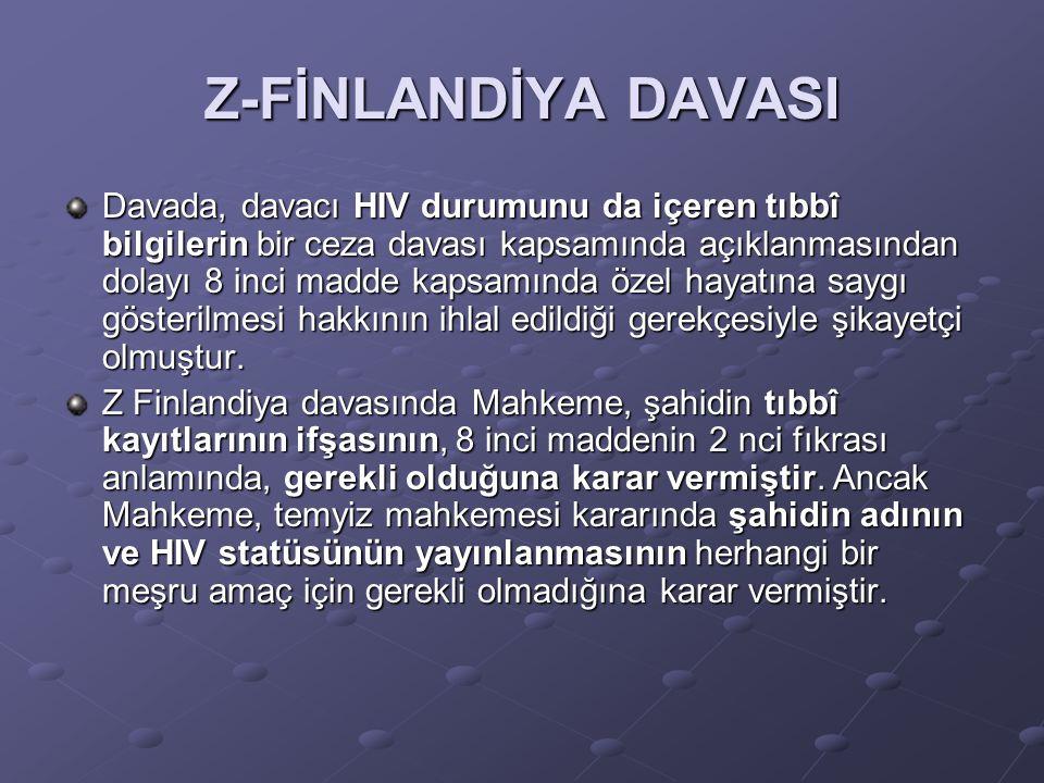 Z-FİNLANDİYA DAVASI