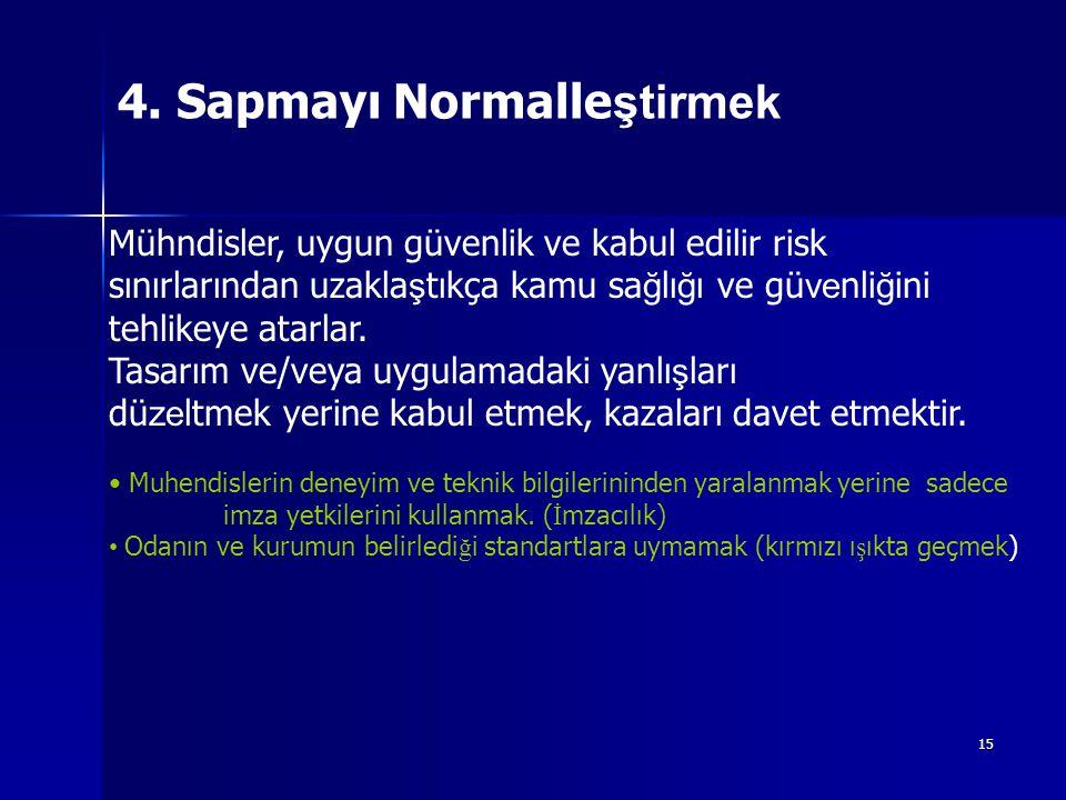 4. Sapmayı Normalleştirmek