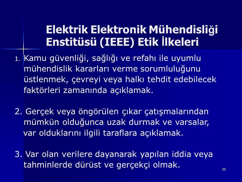 Elektrik Elektronik Mühendisliği Enstitüsü (IEEE) Etik İlkeleri