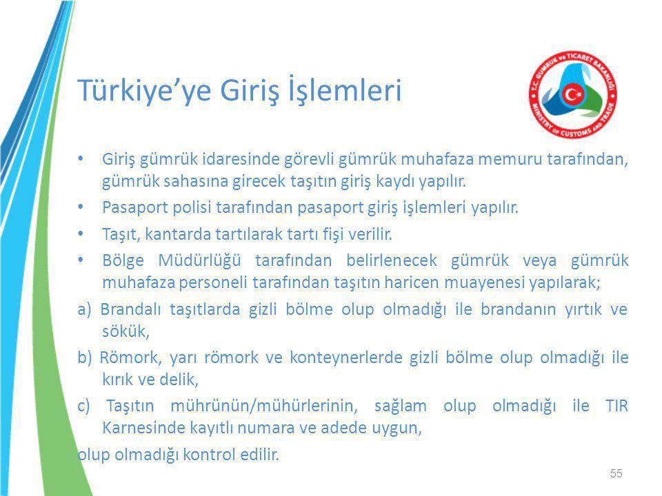 Türkiye'ye Giriş İşlemleri
