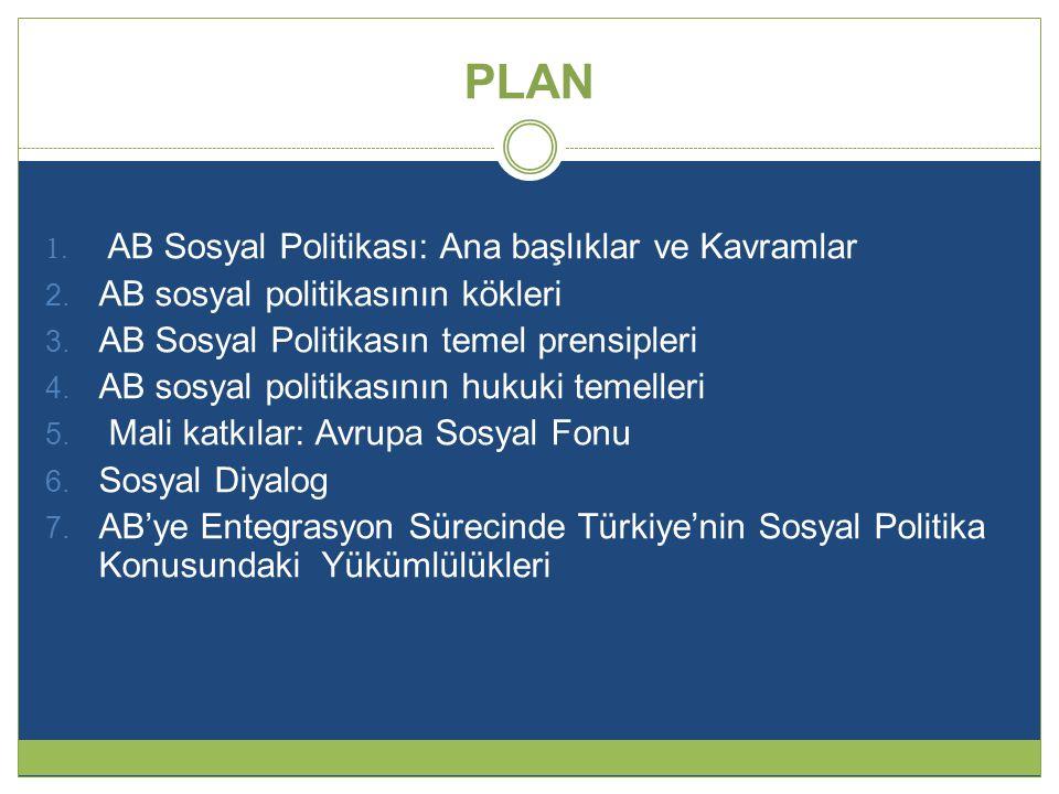 PLAN AB Sosyal Politikası: Ana başlıklar ve Kavramlar