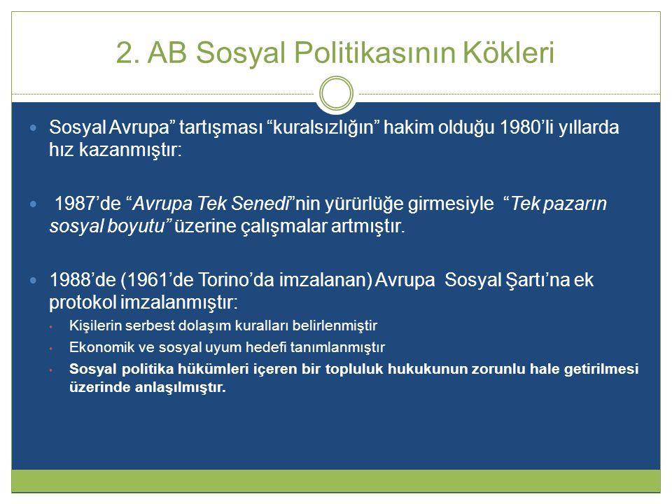 2. AB Sosyal Politikasının Kökleri