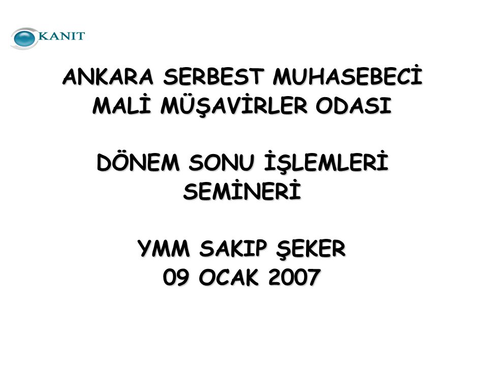 ANKARA SERBEST MUHASEBECİ