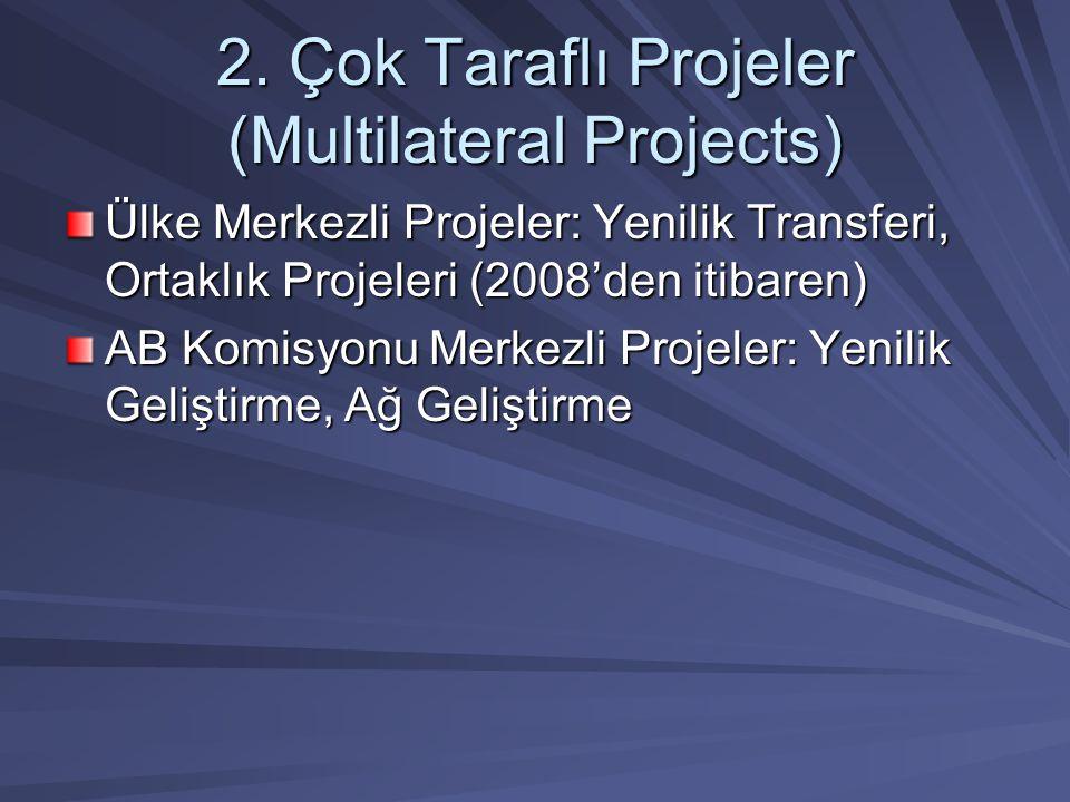 2. Çok Taraflı Projeler (Multilateral Projects)