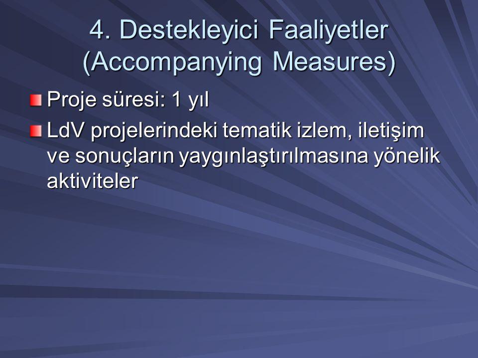 4. Destekleyici Faaliyetler (Accompanying Measures)