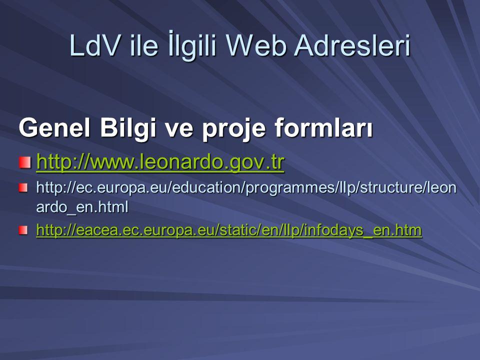 LdV ile İlgili Web Adresleri
