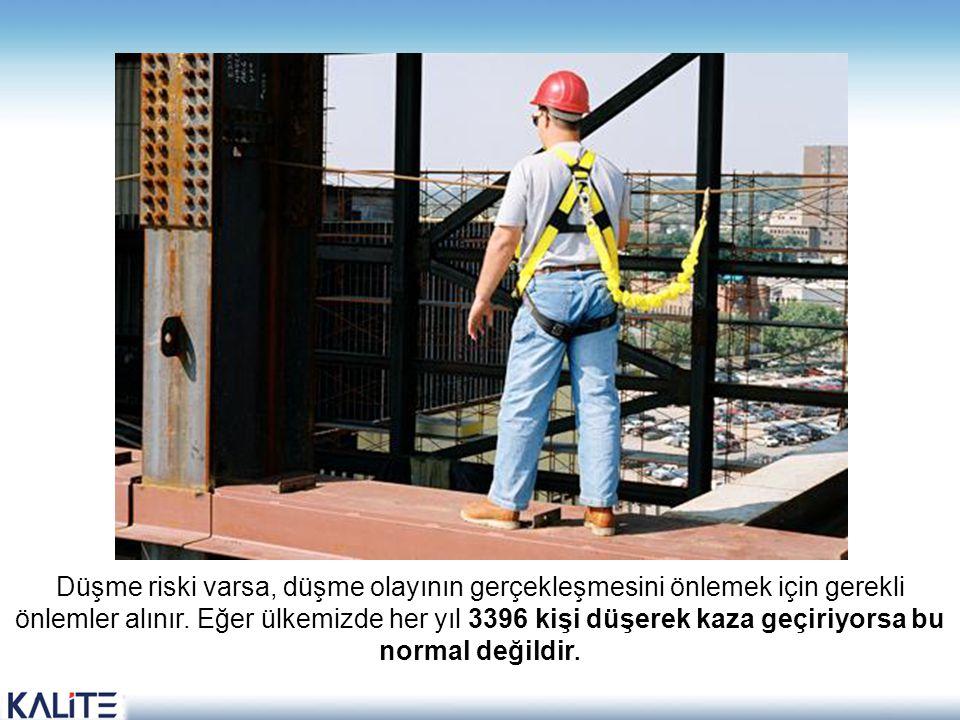 Düşme riski varsa, düşme olayının gerçekleşmesini önlemek için gerekli önlemler alınır.