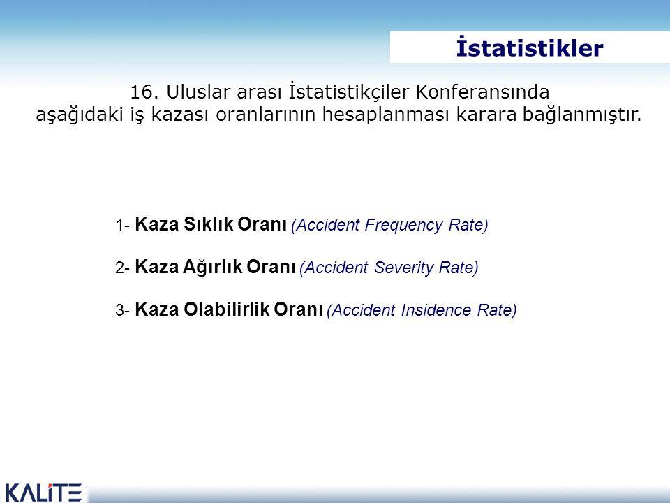 İstatistikler 16. Uluslar arası İstatistikçiler Konferansında