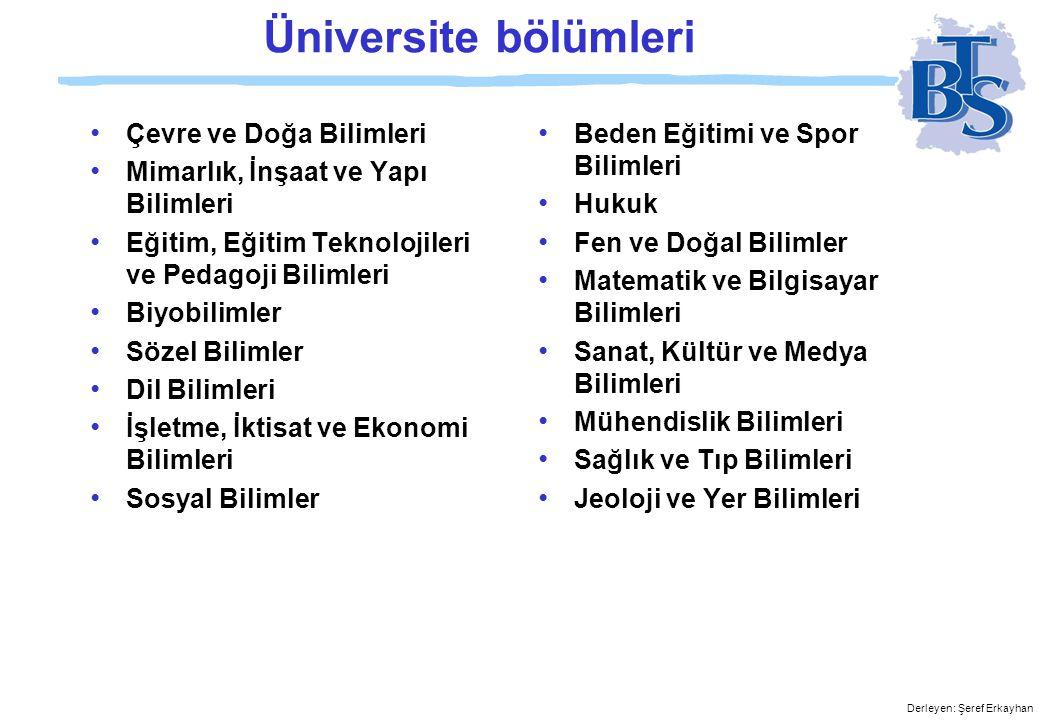 Üniversite bölümleri Çevre ve Doğa Bilimleri