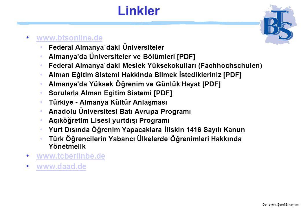 Linkler www.btsonline.de www.tcberlinbe.de www.daad.de