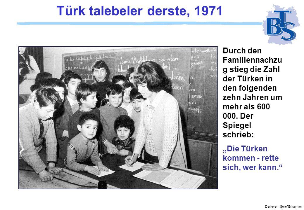 Türk talebeler derste, 1971