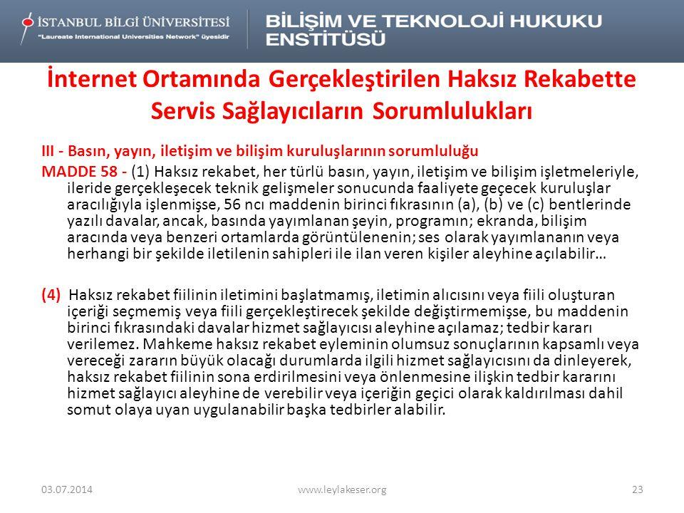 III - Basın, yayın, iletişim ve bilişim kuruluşlarının sorumluluğu