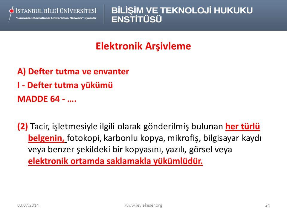 Elektronik Arşivleme