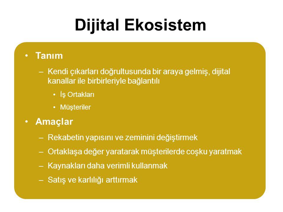 Dijital Ekosistem Tanım Amaçlar