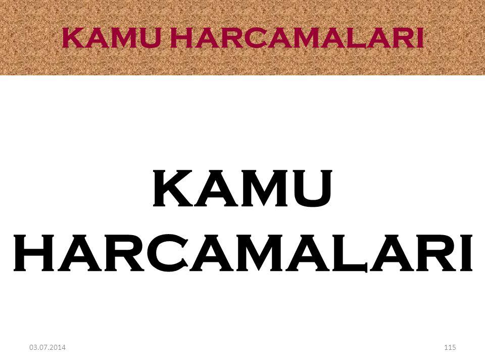 KAMU HARCAMALARI KAMU HARCAMALARI 03.04.2017