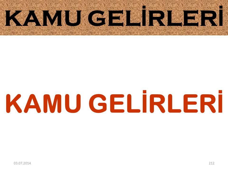 KAMU GELİRLERİ KAMU GELİRLERİ 03.04.2017