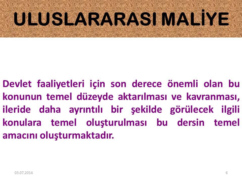 ULUSLARARASI MALİYE