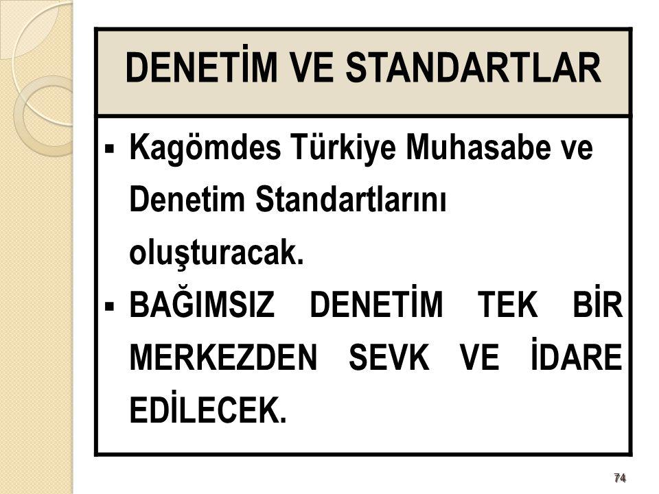 DENETİM VE STANDARTLAR