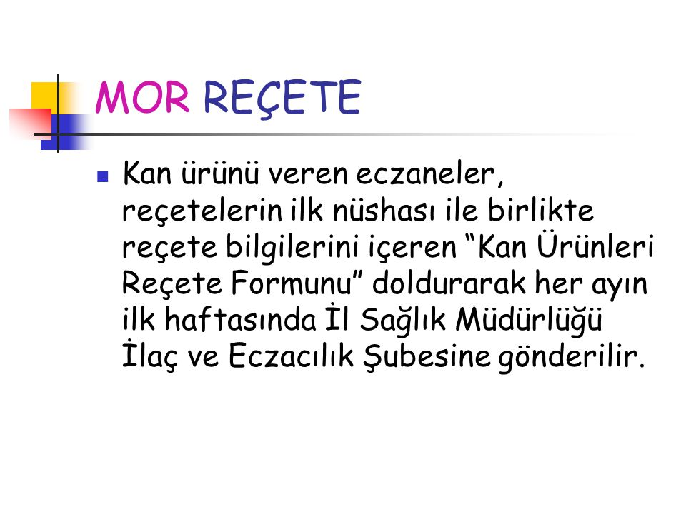 MOR REÇETE