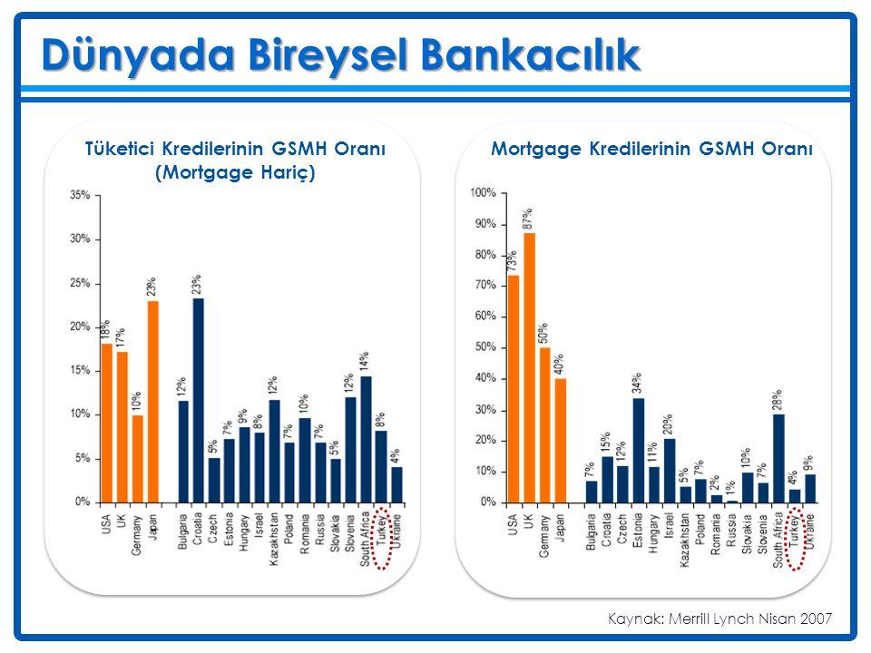 Tüketici Kredilerinin GSMH Oranı (Mortgage Hariç)