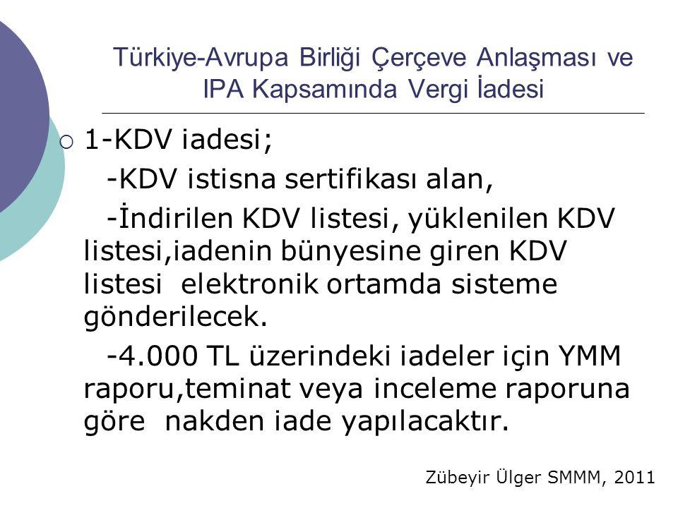 -KDV istisna sertifikası alan,