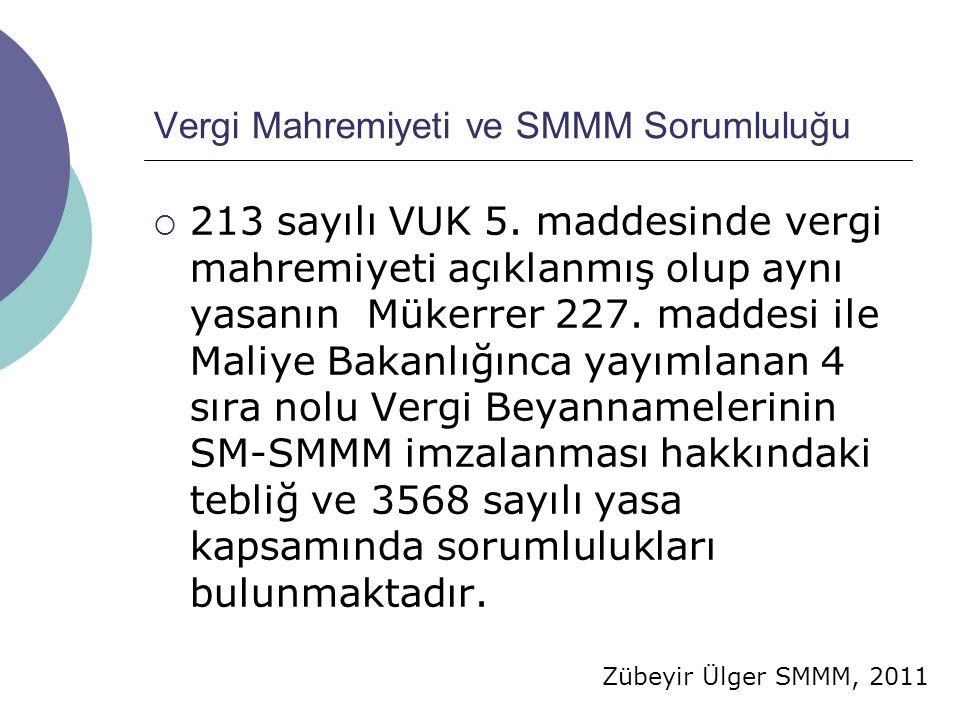 Vergi Mahremiyeti ve SMMM Sorumluluğu