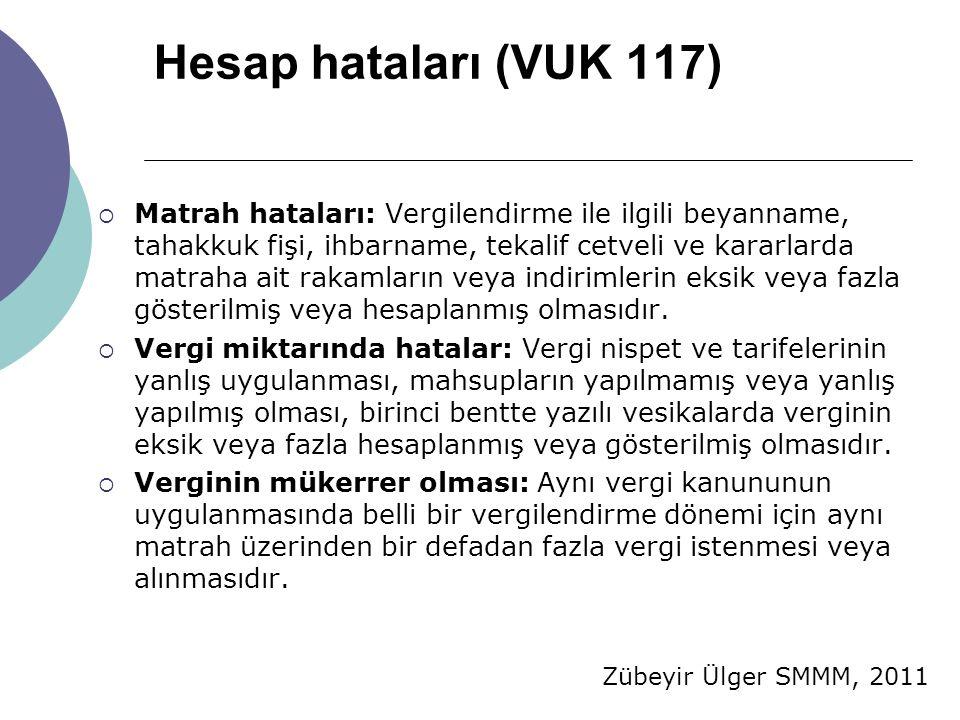Hesap hataları (VUK 117)