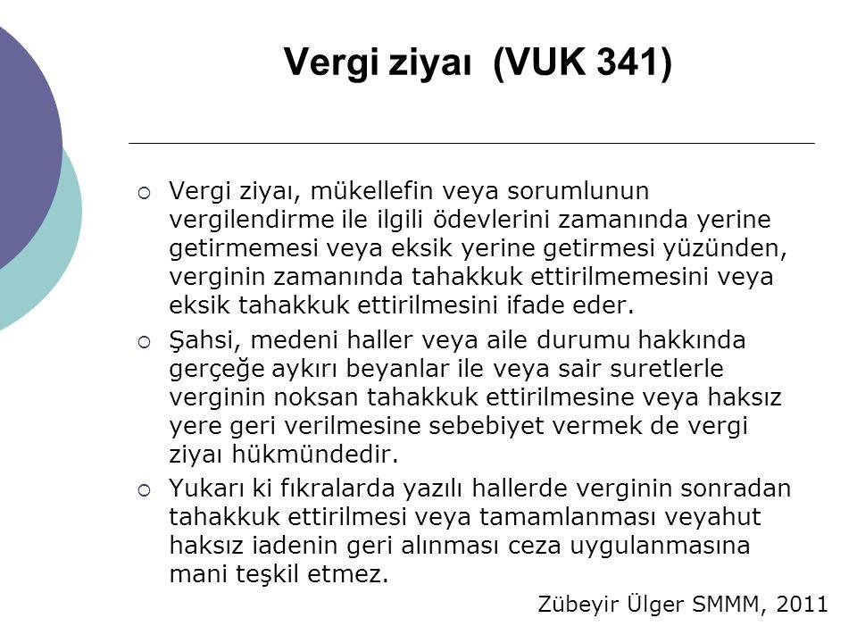Vergi ziyaı (VUK 341)