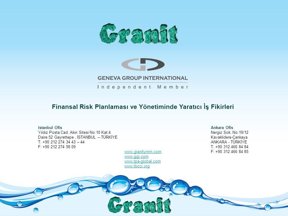 Finansal Risk Planlaması ve Yönetiminde Yaratıcı İş Fikirleri