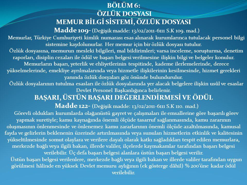 MEMUR BİLGİ SİSTEMİ, ÖZLÜK DOSYASI