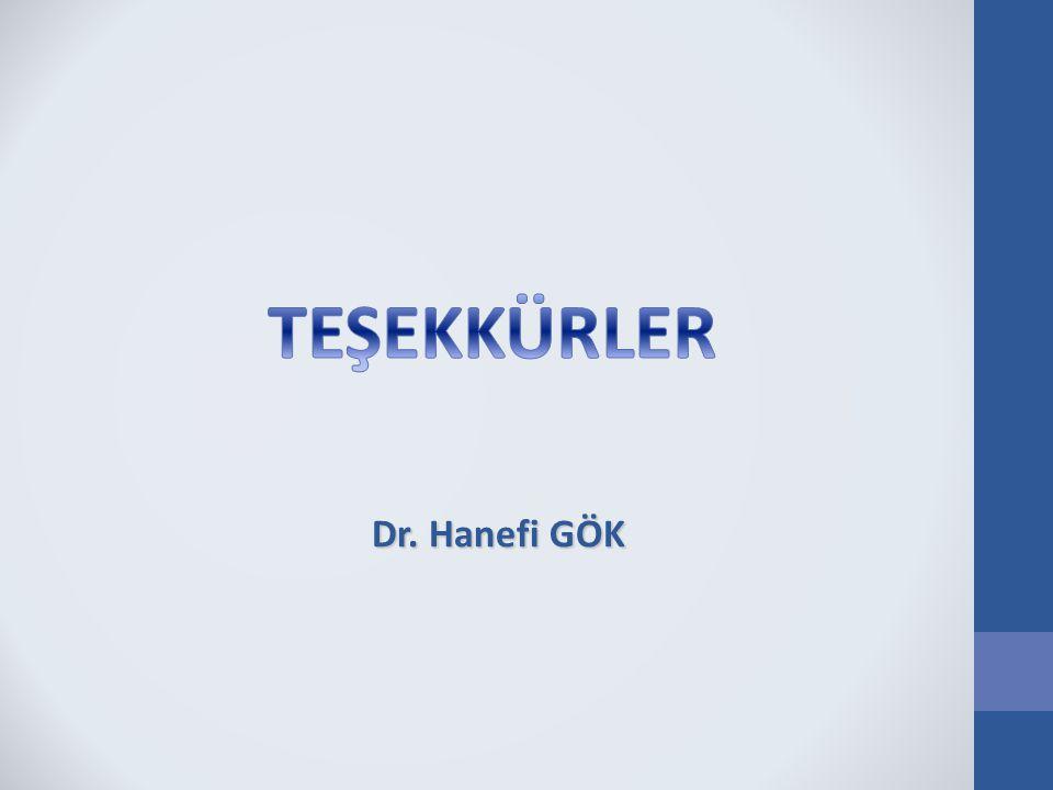Dr. Hanefi GÖK TEŞEKKÜRLER