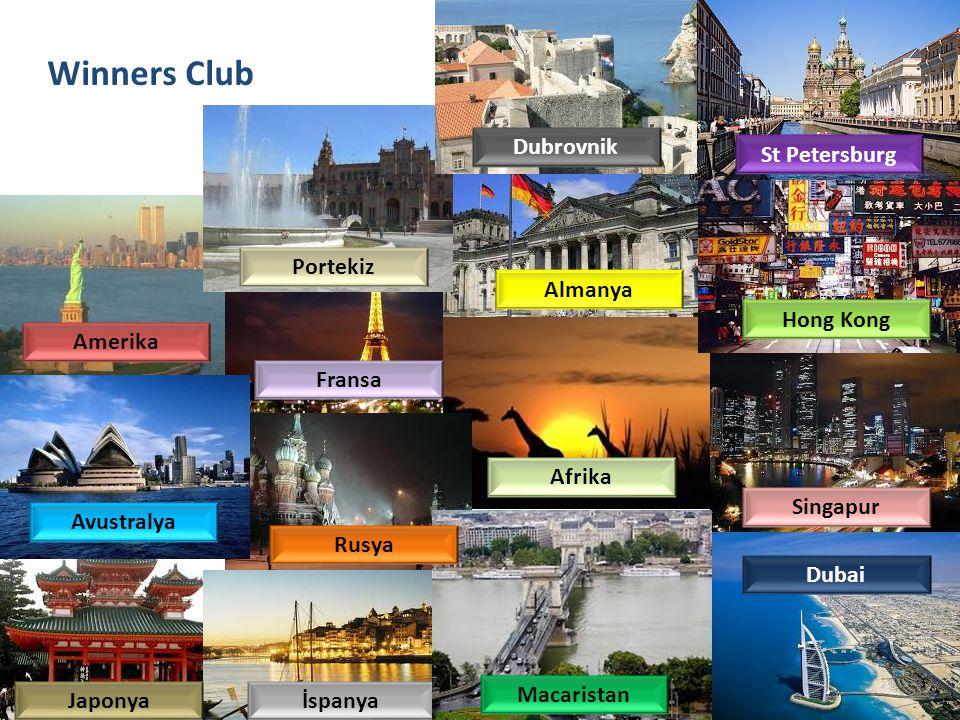 Winners Club Dubrovnik St Petersburg Portekiz Almanya Hong Kong
