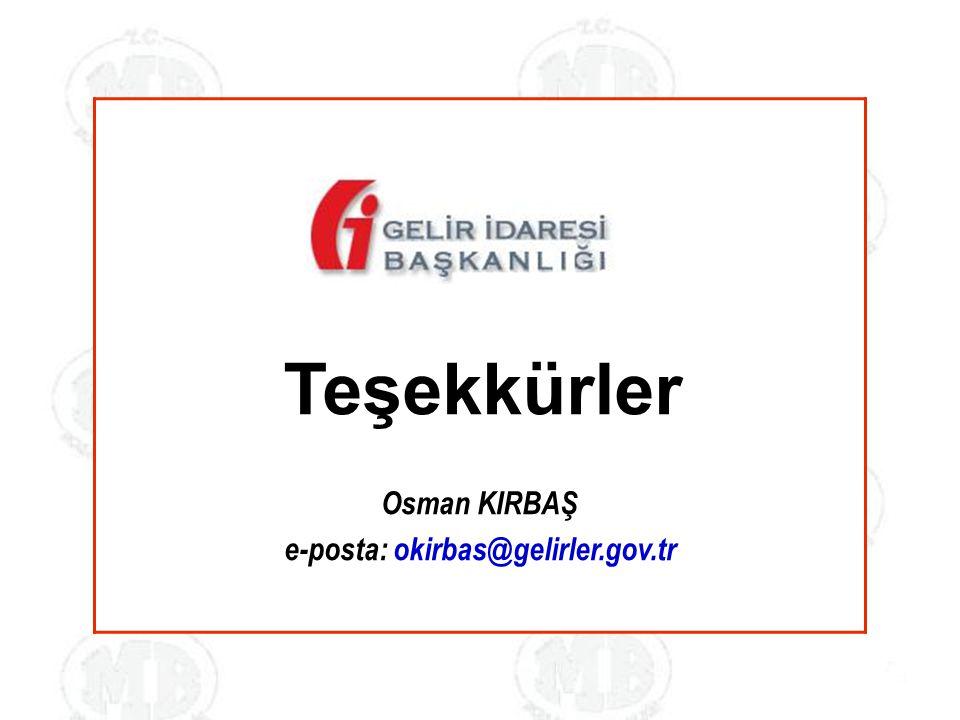 e-posta: okirbas@gelirler.gov.tr