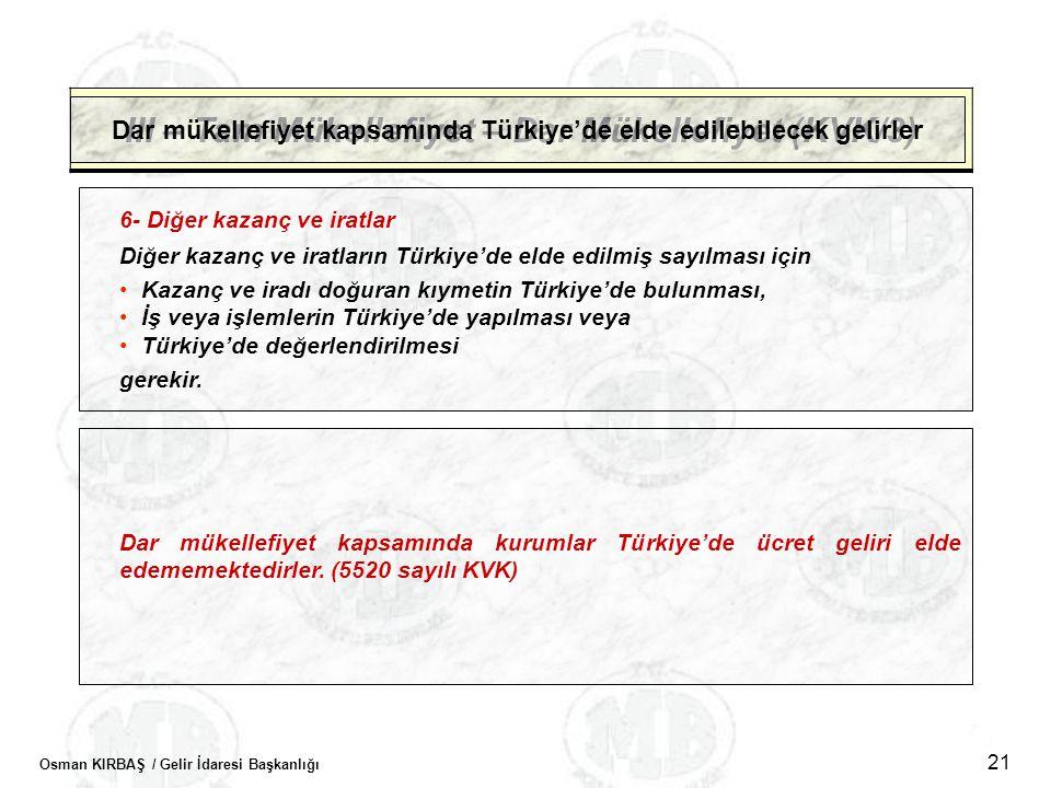 III – Tam Mükellefiyet – Dar Mükellefiyet (KVK/3)